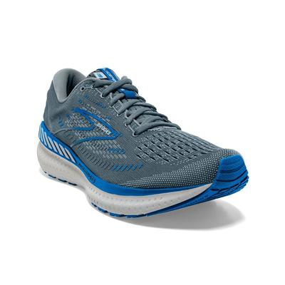 BROOKS MEN`S GLYCERIN GTS 19 RUNNING SHOES - QUARRY/GREY/DARK BLUE