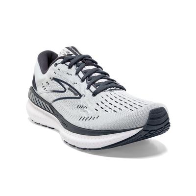 BROOKS WOMEN`S GLYCERIN GTS 19 RUNNING SHOES - GREY/OMBRE/WHITE