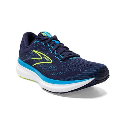 BROOKS MEN`S GLYCERIN 19 RUNNING SHOES - NAVY/BLUE/NIGHTLIFE