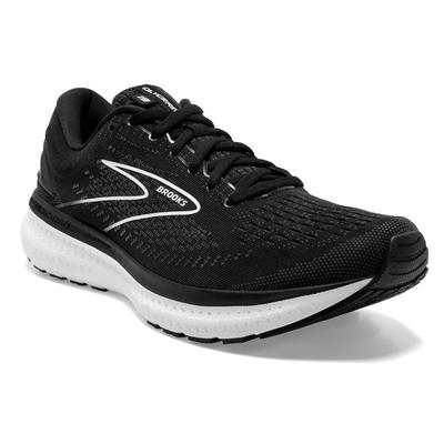 BROOKS WOMEN`S GLYCERIN 19 RUNNING SHOES - WIDE (D) - BLACK/WHITE