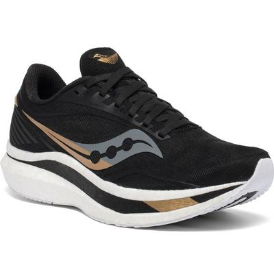 SAUCONY WOMEN'S ENDORPHIN SPEED RUNNING SHOES - BLACK/GOLD