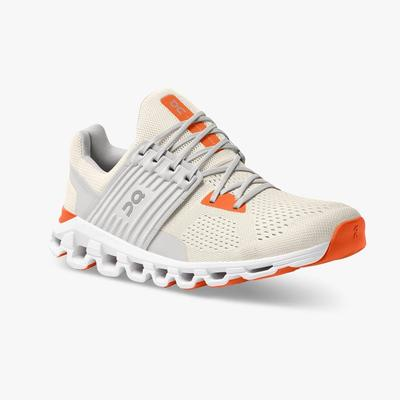 ON RUNNING MEN`S CLOUDSWIFT 2.0 RUNNING SHOES - WHITE/FLAME