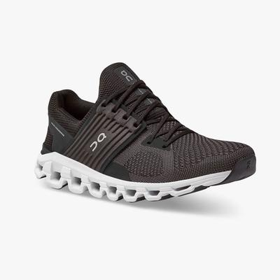 ON RUNNING MEN`S CLOUDSWIFT 2.0 RUNNING SHOES - BLACK/ROCK