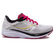 SAUCONY WOMEN'S GUIDE 14 RUNNING SHOES - ALLOY/CHERRY ALLOY.CHERRY