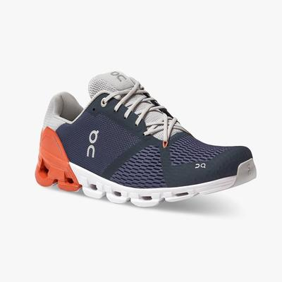ON RUNNING MEN`S CLOUDFLYER 2.0 RUNNING SHOES - MIDNIGHT/RUST