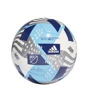 ADIDAS MLS CLUB NATIVO 21 SOCCER BALL - WHITE/CYAN/IRON WHITE.CYAN.IRON