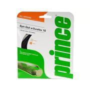 PRINCE SYTHETIC GUT DURAFLEX 16 GAUGE (1.30 MM) TENNIS STRING - BLACK - 12M/40FT