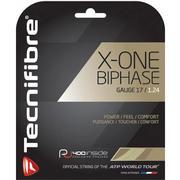 TECHNIFIBRE X-ONE BIPHASE 17 GAUGE (1.24MM) TENNIS STRING - NATURAL N.NATURAL