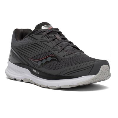 SAUCONY WOMEN'S ECHELON 8 RUNNING SHOES - WIDE (D) - CHARCOAL/CHERRY
