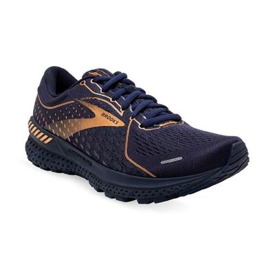 BROOKS WOMEN'S ADRENALINE GTS 21 RUNNING SHOES - METALLIC COLLECTION- NAVY/BLACK
