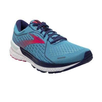 BROOKS WOMEN'S ADRENALINE GTS 21 RUNNING SHOES - HORIZON/BLUE RIBBON/PINK