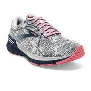 BROOKS WOMEN'S ADRENALINE GTS 21 RUNNING SHOES - WHITE/PEACOAT/CORAL