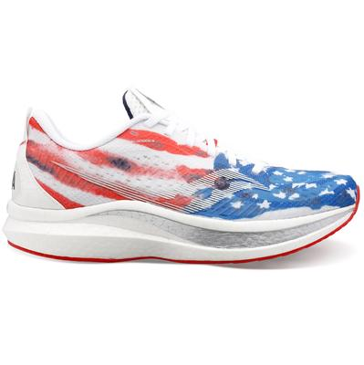 SAUCONY MEN'S ENDORPHIN SPEED 2 RUNNING SHOES - USA PACK - STARS AND STRIPES