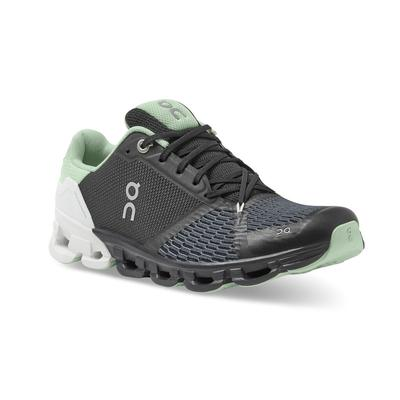 ON RUNNING WOMEN`S CLOUDFLYER 2.0 RUNNING SHOES - WIDE (D) - BLACK/WHITE