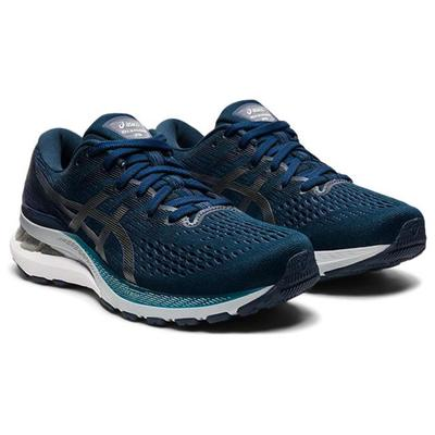 ASICS WOMEN`S GEL-KAYANO 28 RUNNING SHOES - FRENCH BLUE/THUNDER BLUE