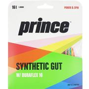 PRINCE SYTHETIC GUT DURAFLEX 16 GAUGE (1.30 MM) TENNIS STRING - PRISM - 12M/40FT