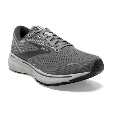 BROOKS MEN`S GHOST 14 RUNNING SHOES - WIDE (2E) - GREY/ALLOY/OYSTER