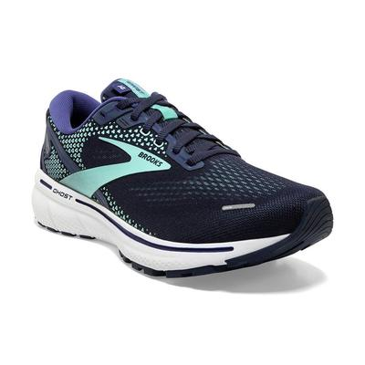 BROOKS WOMEN`S GHOST 14 RUNNING SHOES - PEACOAT/YUCCA/NAVY