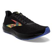 BROOKS MEN`S HYPERION TEMPO RUNNING SHOES - VICTORY COLLECTION - BLACK/RED/BLUE