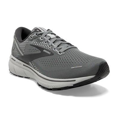 BROOKS MEN'S GHOST 14 RUNNING SHOES - EXTRA WIDE (4E) - GREY/ALLOY/OYSTER