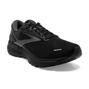 BROOKS MEN'S GHOST 14 RUNNING SHOES - EXTRA WIDE (4E) - BLACK/BLACK/EBONY 020.BLACK.BLACK.EBNY