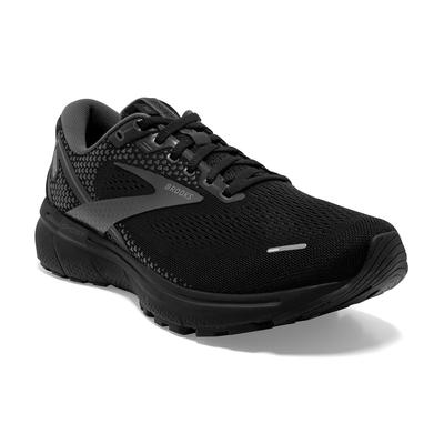 BROOKS MEN'S GHOST 14 RUNNING SHOES - EXTRA WIDE (4E) - BLACK/BLACK/EBONY