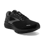 BROOKS WOMEN'S GHOST 14 RUNNING SHOES - BLACK/BLACK/EBONY 020.BLACK.BLACK.EBNY