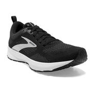 BROOKS WOMEN`S REVEL 5 RUNNING SHOES - BLACK/METALLIC/WHITE 036.BLACK.MET.WHITE