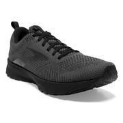 BROOKS MEN`S REVEL 5 RUNNING SHOES - BLACK/EBONY/BLACK