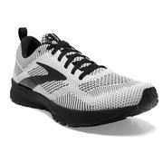 BROOKS MEN`S REVEL 5 RUNNING SHOES - WHITE/BLACK