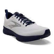 BROOKS MEN`S REVEL 5 RUNNING SHOES - BREAKTHROUGH COLLECTION - WHITE/BLUE