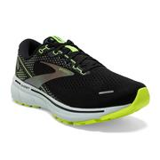 BROOKS WOMEN`S GHOST 14 RUNNING SHOES - RUN VISIBLE COLLECTION - BLACK/NIGHTLIFE 050.BLACK.NIGHTLIFE