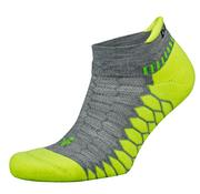 BALEGA SILVER PERFORMANCE SOCKS - NO SHOW TAB - MID GREY/NEON LIME 0128.MID.GREY.LIME