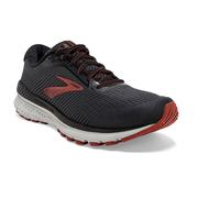 BROOKS MEN`S ADRENALINE GTS 20 RUNNING SHOES - WIDE (2E-WIDTH) - BLK/EBONY/KETCH