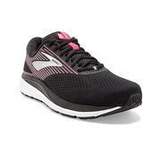 BROOKS WOMEN`S ADDICTION 14 RUNNING SHOES - WIDE (D-WIDTH) - BLACK/PINK/SILVER
