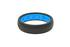 Groove Thin Silicone Ring - Black/Dark Blue - Size 6