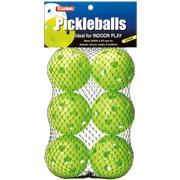 TOURNA INDOOR PICKLEBALLS - 6 PACK - LIME GREEN LIME.GREEN