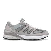NEW BALANCE WOMEN`S 990V5 RUNNING SHOES - WIDE (D-WIDTH) - GREY/CASTLEROCK