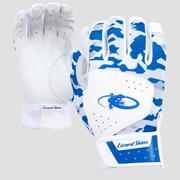 LIZARD SKINS ADULT KOMODO BATTING GLOVES - BLUE CAMO - SMALL 420.BLUE.CAMO