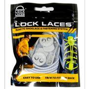 LOCK LACES ELASTIC NO TIE SHOELACES - COOL GREY COOL.GREY