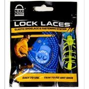 LOCK LACES ELASTIC NO TIE SHOELACES - ROYAL BLUE ROYAL.BLUE