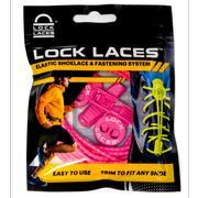 LOCK LACES ELASTIC NO TIE SHOELACES - HOT PINK HOT.PINK