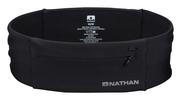 NATHAN THE ZIPSTER WAIST BELT WITH POCKETS FOR RUNNING - X-LARGE - BLACK 0015.BLACK