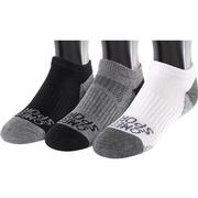 OMEGA SPORTS PERFORMANCE UNISEX SOCKS - NO-SHOW - SMALL - WHITE/BLACK/GREY - 3-PACK