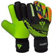 VIZARI ADULT FIERO F.P. FINGER PROTECTION GOALIE GLOVES - BLACK/GREEN/ORANGE BLACK.GREEN.ORANGE