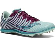 SAUCONY WOMEN`S VENDETTA 2 TRACK SPIKES (DISTANCE) - LIGHT BLUE/PURPLE