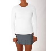SOFIBELLA WOMEN`S LONG SLEEVE SHIRT - WHITE - UV COLORS COLLECTION WHT.WHITE