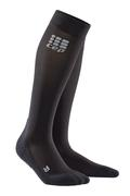 CEP WOMEN`S COMPRESSION RECOVERY SOCKS - BLACK - KNEE HIGH BLACK