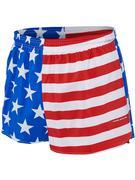 B.O.A MEN`S 3-INCH HALF SPLIT TRAINER RUNNING SHORT - AMERICAN FLAG AMERICAN.FLAG