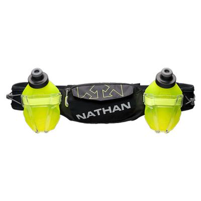 NATHAN TRAIL MIX PLUS 2 HYDRATION BELT FOR RUNNING - 20 OZ. - OSFM - BLACK